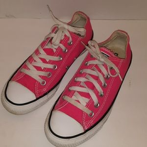 PREOWNED NEON PINK CONVERSES